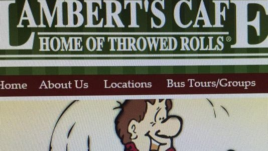 """Lambert's Cafe refers to itself as """"Home of Throwed Rolls."""""""