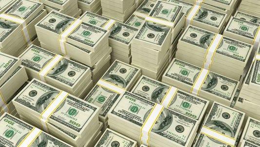 Reams of money