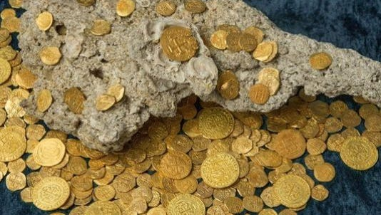 On July 30 and 31, off the coast of Vero Beach, Fla., Brent Brisben and his S/V Capitana crew recovered 350 gold coins worth $4.5 million.
