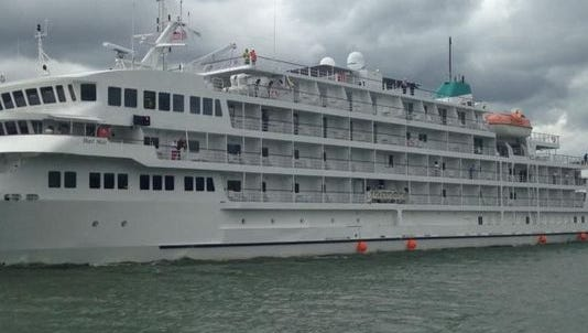 Pearl Mist departing Holland on Aug. 20, 2015.