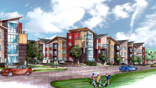 A rendering of Solo East, which is nearing completion at Litton Avenue and Gallatin Pike.