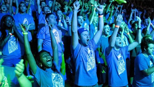 Thousands of FGCU fans turned out Wednesday, Aug. 19, for the Eagle Revolution pep rally at Alico Arena.