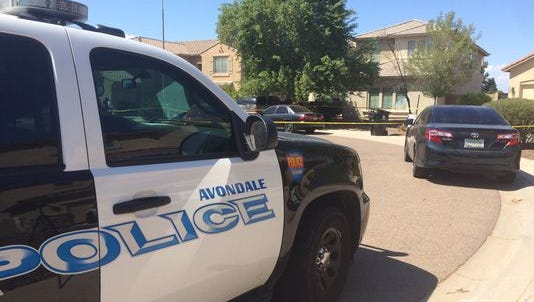 Police in Avondale, Ariz., investigate the deaths of twin boys on Sunday.