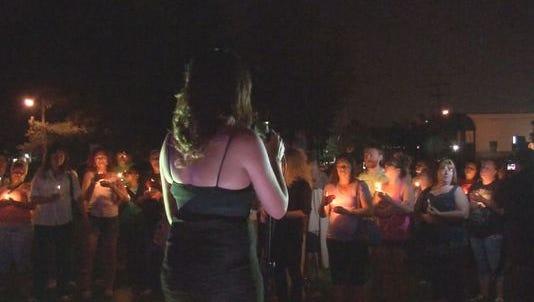 Scene from Batavia vigil.