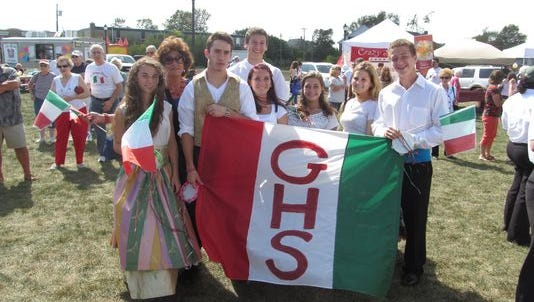 The Glassboro Italian Club proudly displayed its red, white and green GHS Banner at the St. Anthony Italian Festival in Glassboro at a previous festival.
