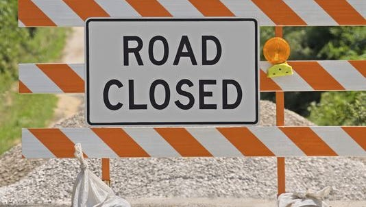 University Boulevard will close for several days for a railroad repair.