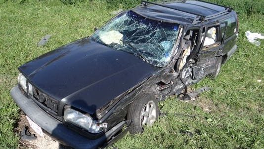 Keith Knop, the driver of this Volvo, died shortly after another driver entered his lane on Sept. 20.