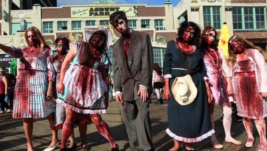 Zombies will be back on the Asbury Park boardwalk this weekend.