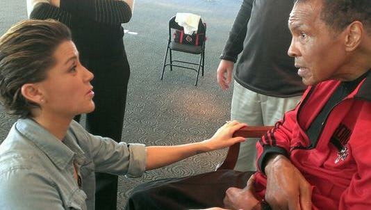 Cancer patient Jill Conley met with boxing legend Muhammad Ali for the first time last year.