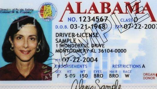 A sample driver's license. An analysis of transactions conducted at 31 offices losing part-time examiners suggests the impacts of the losses would be small