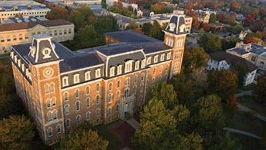 University of Arkansas campus.