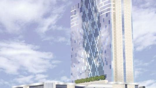 The 454-room Westin Nashville hotel will face Clark Street with the Music City Center convention hall directly east of the hotel location across Eighth Avenue South.