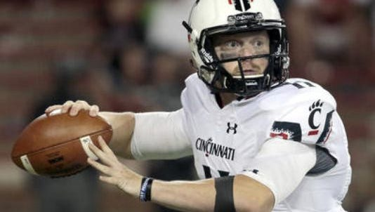 Gunner Kiel started at quarterback last week in UC's win over Connecticut. Will he start again this week, or will Hayden Moore? Only time will tell.
