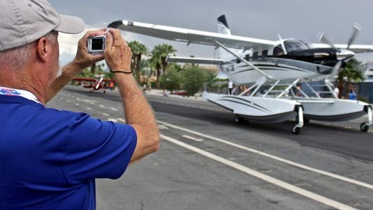 Planes traveled through the streets of Palm Springs during the Parade of Planes event kicking off this year's Flying Aviation Expo two weeks ago in Palm Springs. The event returns next October.