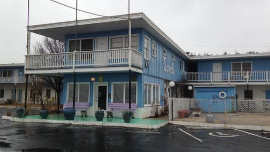 A view of the Sands Motel in Fenwick Island before renovations began earlier this year.