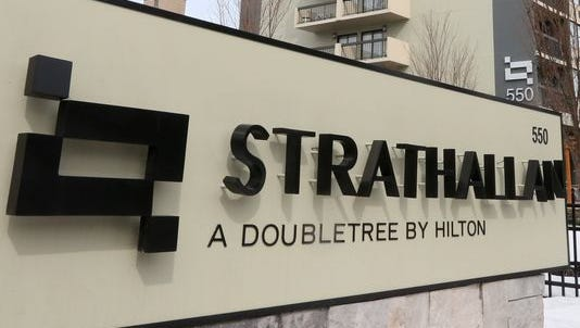 The Strathallan Rochester, a DoubleTree by Hilton Hotel, is at 550 East Ave.