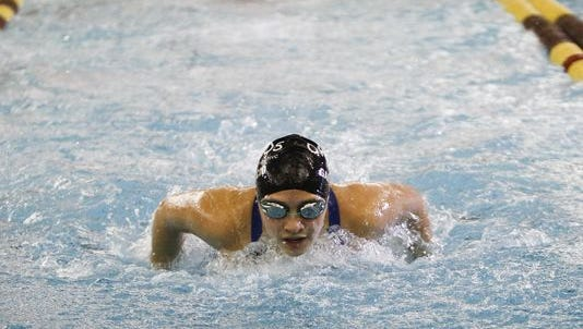 Okemos' Freyja Garbaccio is in the top 10 in several swimming events in mid-Michigan.
