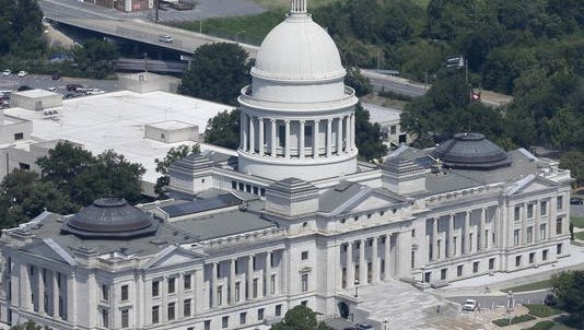 The Arkansas state Capitol in Little Rock.