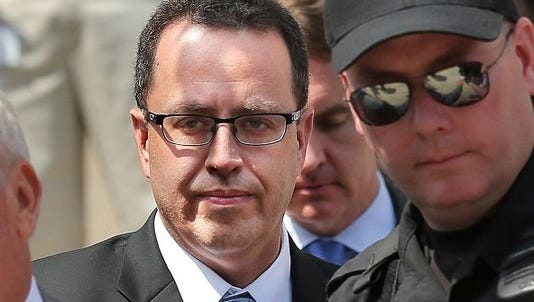 Jared Fogle after a court hearing in August.