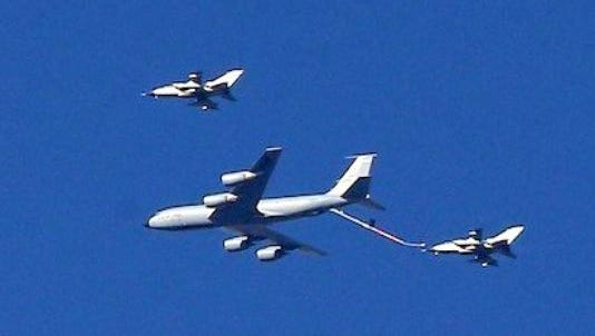 A refueling exercise occurred in Lincoln County airspace by air craft from Holloman Air Force Base.