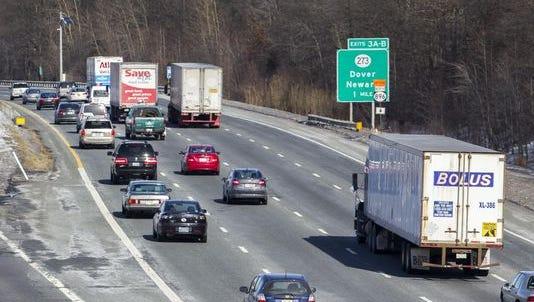 Three lanes of I-95 will close Tuesday night near Christiana.