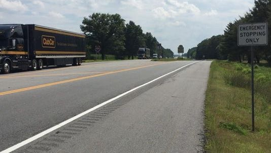Hundreds of trucks roll into Delaware, every hour at times, at the Maryland state line southwest of Middletown.