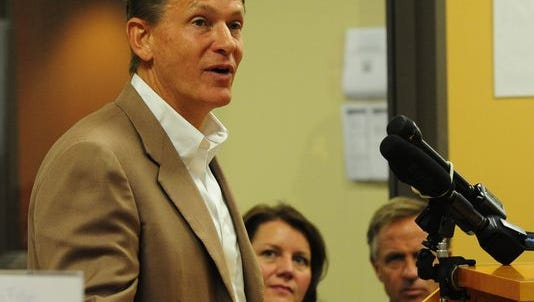 Randy Boyd, commissioner of the Tennessee Department of Economic and Community Development spoke in Williamson County on Thursday.