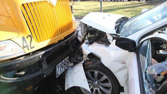 A Sycamore Community Schools bus was involved in a  crash Nov. 13.