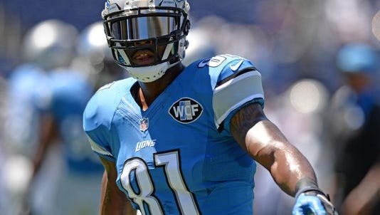 Detroit's Calvin Johnson is ninth in the NFL in receiving yards this season.