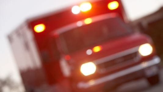 A Voorhees man died and a woman was injured in a one-vehicle crash early Saturday.