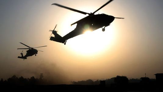 The U.S. Army has grounded helicopters for a safety review.
