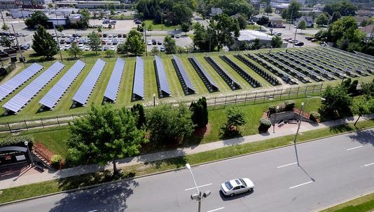 The Lansing Board of Water & Light has 817 panels at its Cedar Street Solar Array, which generates 158 kilowatts. BWL picked a Vermont company called groSolar to build more solar arrays in the region.
