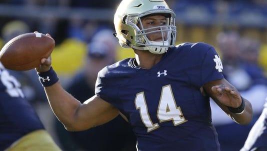 Notre Dame quarterback DeShone Kizer