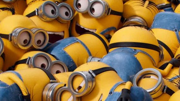 "A pile of Minions from the film, ""Minions."""