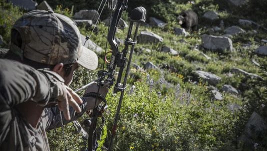 "Remi Warren of ""Solo Hunter"" and ""Apex Predator"" shoots the Prime Ion compound bow."