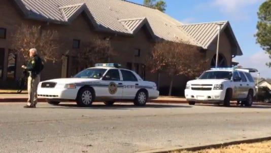 Police on ASU campus during active shooter alert, Thursday, Dec. 10, 2015.