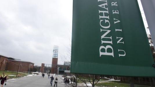 Binghamton University's campus in Feb. 2015