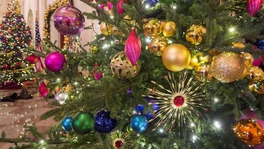 A White House Christmas tree on Dec. 2, 2015.