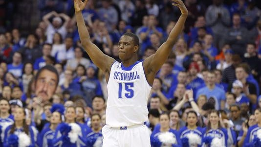 Big crowds, like the one behind Isaiah Whitehead in this photo from last year, have not been seen at the Rock so far.