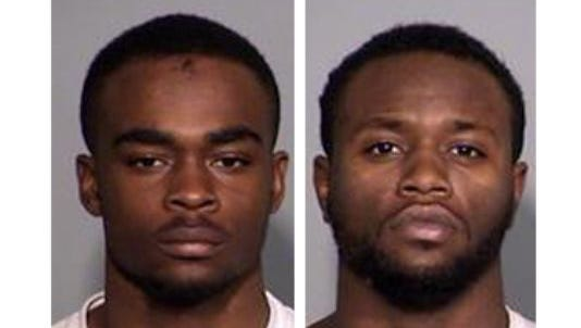 Larry Taylor, 18, (left) and Jalen Watson, 21