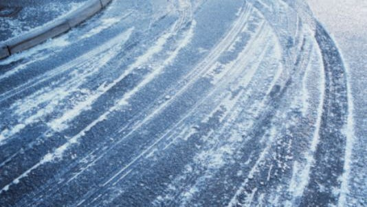 Drivers should use caution and be especially alert to ice on bridges and overpasses.