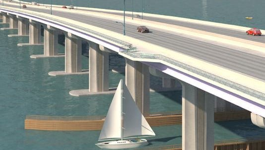 This rendering from FDOT shows one possible look for the new bridge.