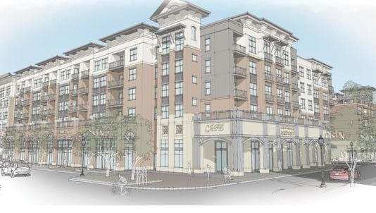 Rendering's of Quint Studer's planned apartment complex