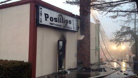 Posillipo Restaurant on fire in March 2014.