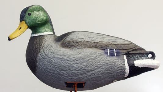 Find Marshall, a mallard duck decoy, at Rotary Winter Wonderland.