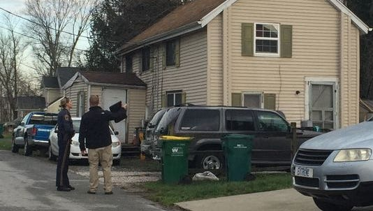 Middletown police in the 300 block of Jefferson St., Thursday morning investigating a shooting that left three injured.