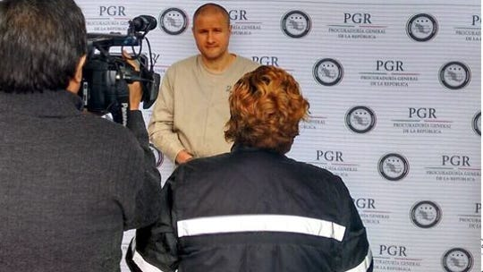 Edgar Valdez-Villareal in custody in Mexico.