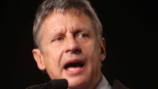 Libertarian Gary Johnson launches presidential bid.