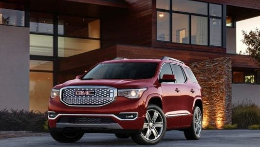 The GMC Acadia will be redesigned for 2017 and on sale in its new form this spring.