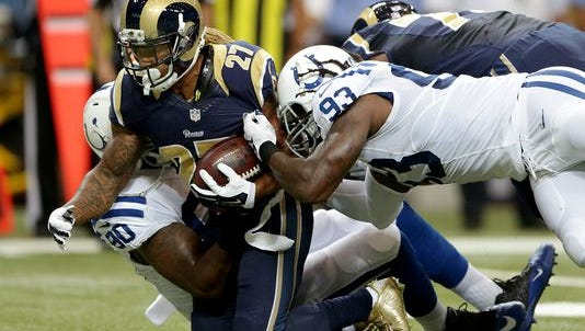 Indianapolis Colts make their moves on the St. Louis Rams, but this time off the field.